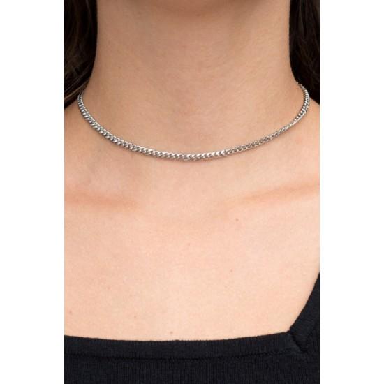 Online Sale Brandy Melville Silver Cuban Link Necklace