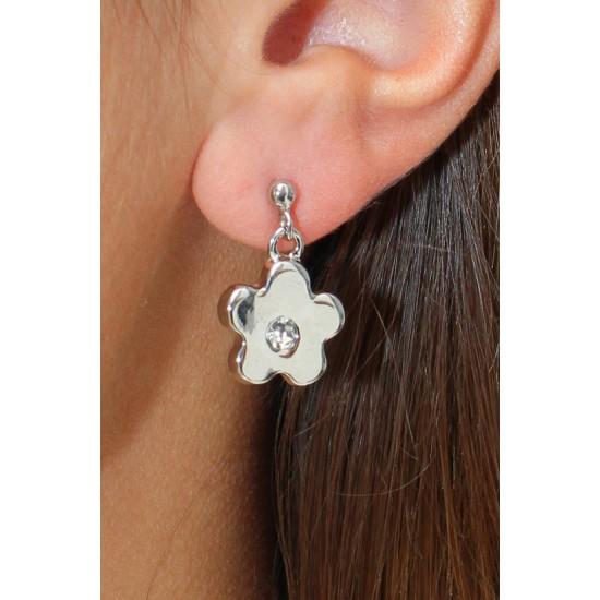 Online Sale Brandy Melville Silver Flower Earring