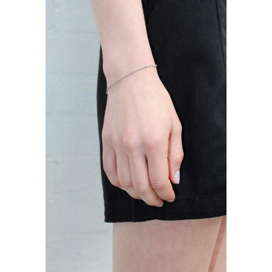 Online Sale Brandy Melville Silver Bead Bracelet