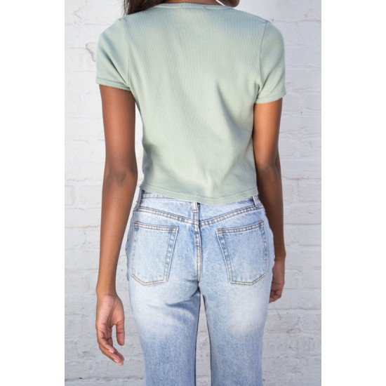 Online Sale Brandy Melville Paige Ruffle Top