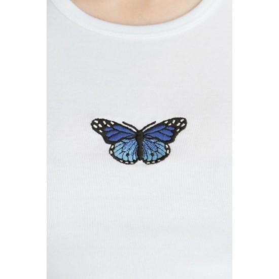 Online Sale Brandy Melville Ashlyn Butterfly Top