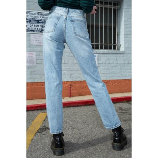 Online Sale Brandy Melville Molly Light Wash Jeans