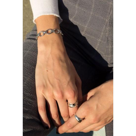 Online Sale Brandy Melville Silver Chain Bracelet