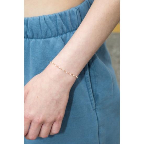 Online Sale Brandy Melville White Bead Bracelet