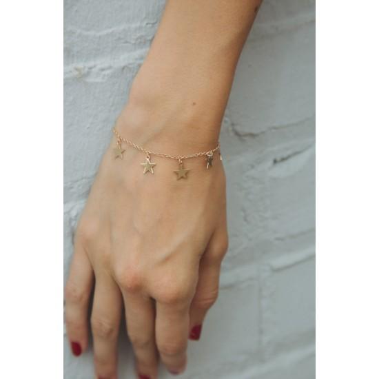 Online Sale Brandy Melville Gold Star Bracelet