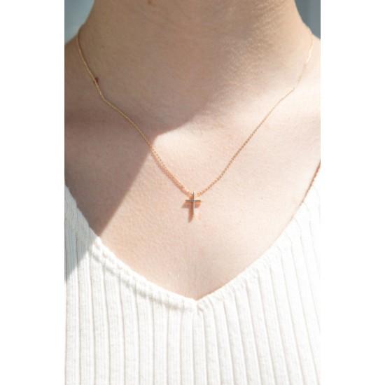 Online Sale Brandy Melville Mini Gold Cross Necklace
