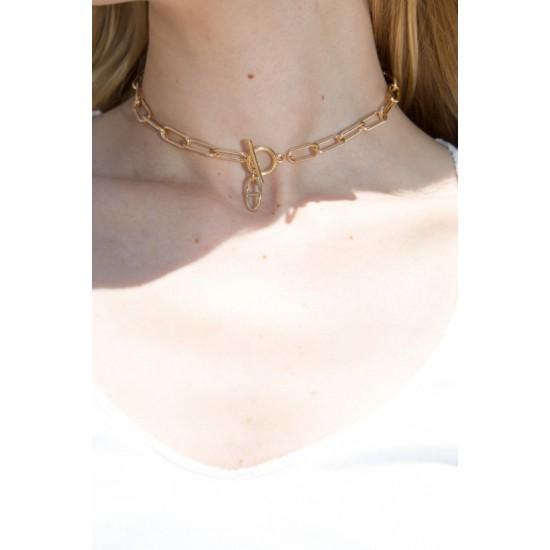 Online Sale Brandy Melville Gold Chain Choker