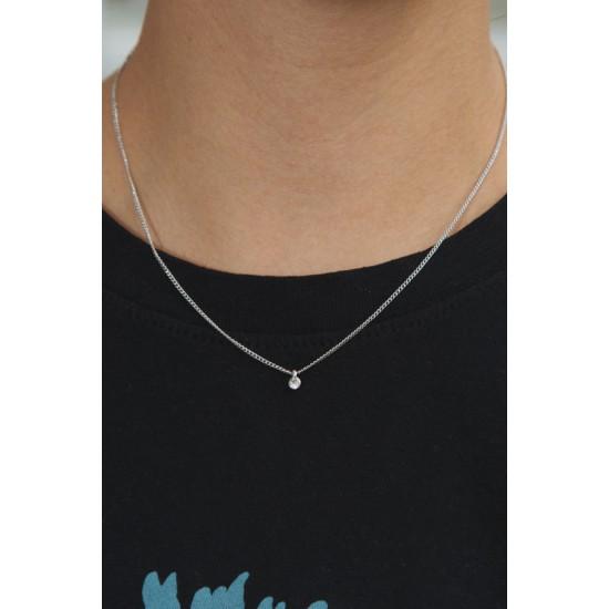 Online Sale Brandy Melville Silver Rhinestone Charm Necklace