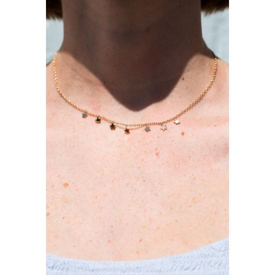 Online Sale Brandy Melville Mini Gold Star Charm Choker