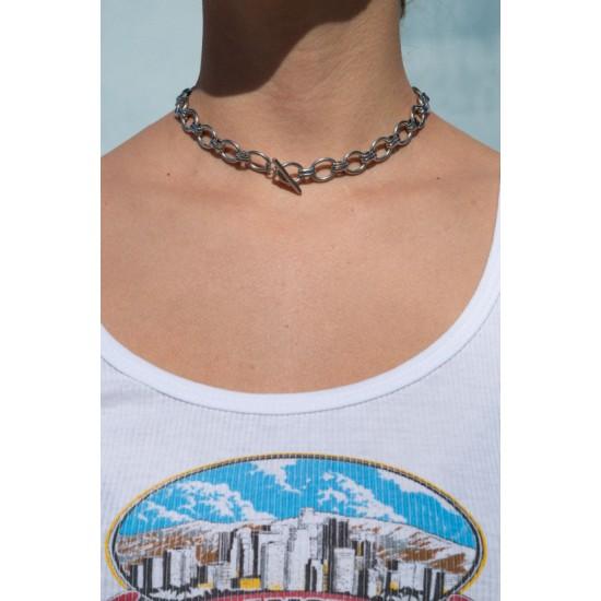 Online Sale Brandy Melville Silver Chain Choker