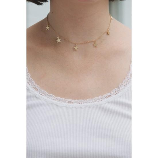 Online Sale Brandy Melville Gold Stars Charm Necklace