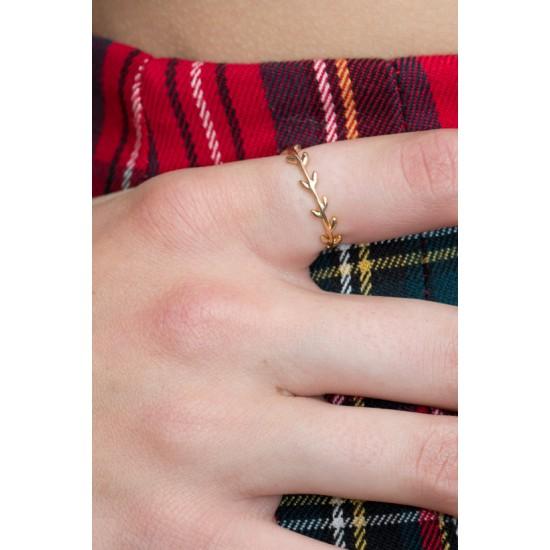 Online Sale Brandy Melville Gold Leaf Ring