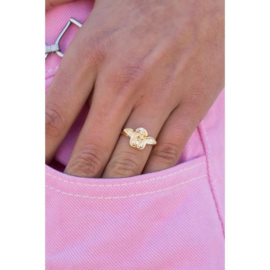 Online Sale Brandy Melville Gold Angel Ring