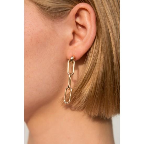 Online Sale Brandy Melville Gold Chain link Earrings