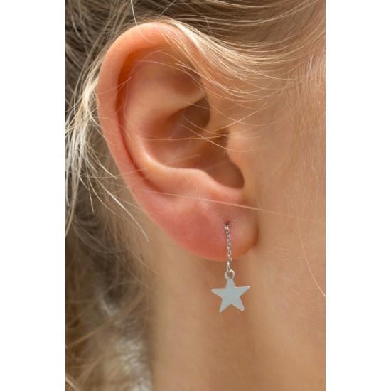 Online Sale Brandy Melville Silver Star Mini Drop Earrings