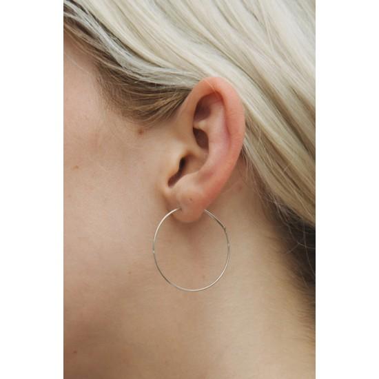 Online Sale Brandy Melville Thin Silver Hoop Earrings