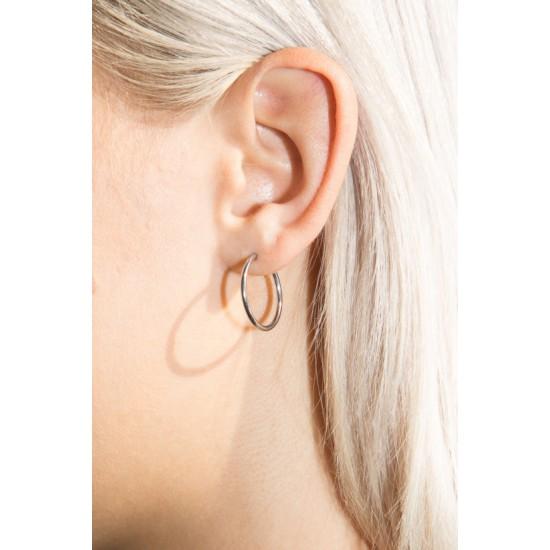 Online Sale Brandy Melville Silver Hoop Earrings