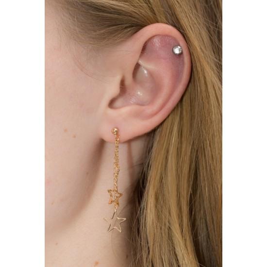 Online Sale Brandy Melville Gold Hollow Star Charm Drop Earrings