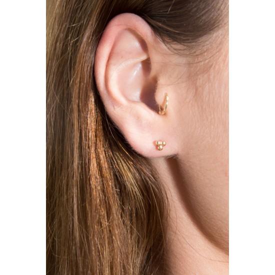 Online Sale Brandy Melville Gold Ball Stud Earrings