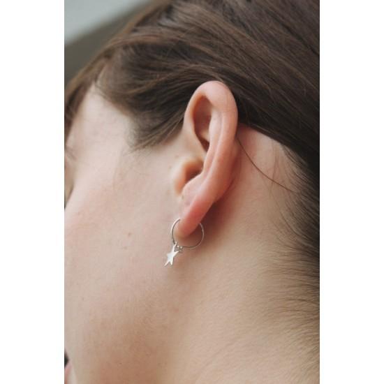 Online Sale Brandy Melville Silver Stars Earrings