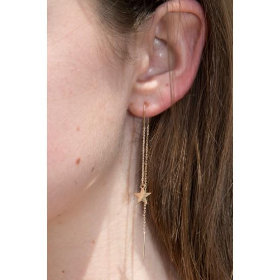 Online Sale Brandy Melville Gold Star Drop Earrings