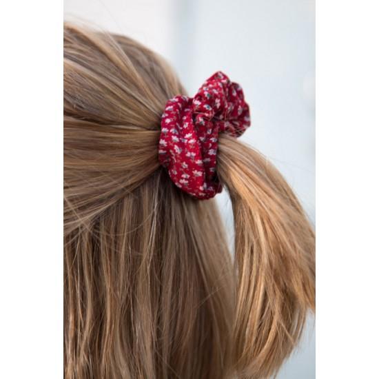 Online Sale Brandy Melville Red Floral Scrunchie