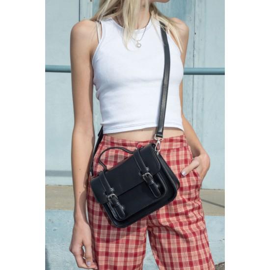 Online Sale Brandy Melville Black Buckle Handbag