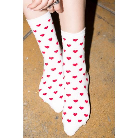 Online Sale Brandy Melville Red Heart Socks